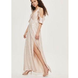 Shiny Pink Flowy TopShop Dress